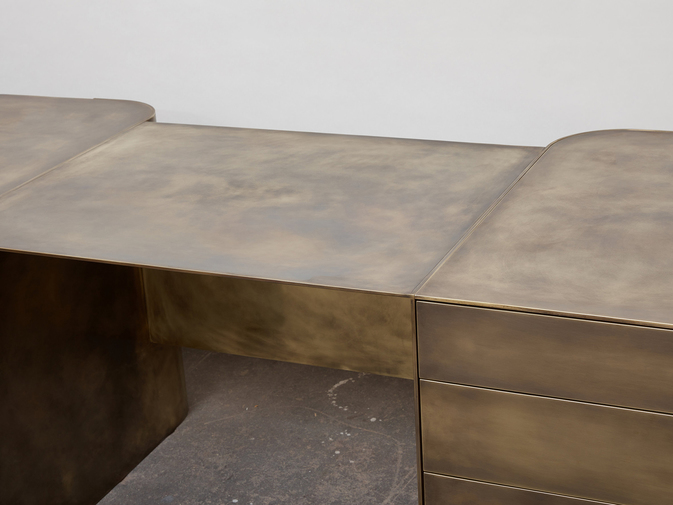 Brian Thoreen Brass Desk, image 3