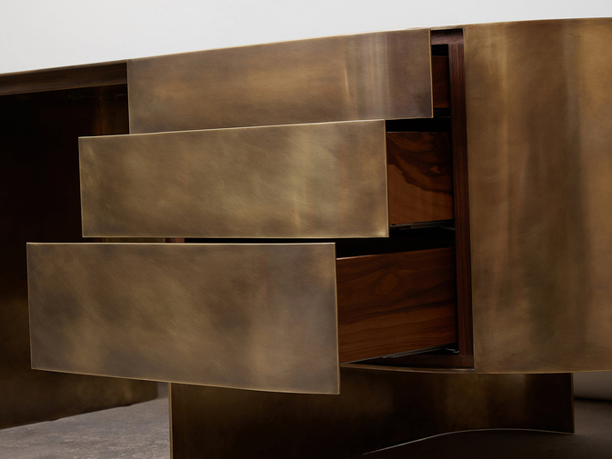 Brian Thoreen Brass Desk, image 6