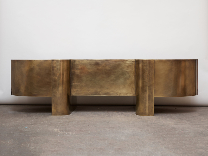 Brian Thoreen Brass Desk, image 7