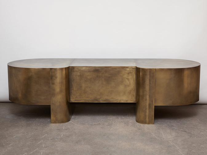 Brian Thoreen Brass Desk, image 8