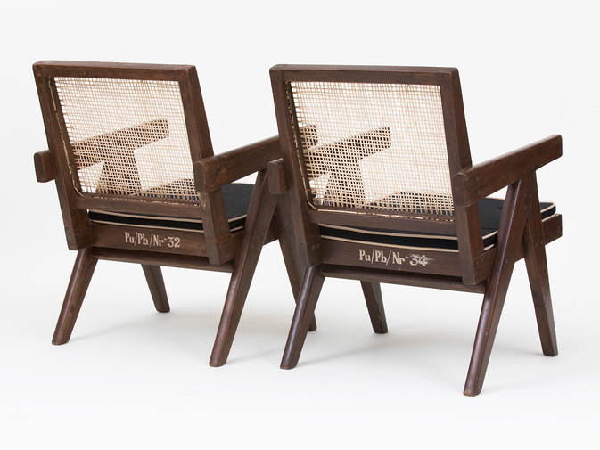 Pierre Jeanneret Low Lounge Chairs, image 1