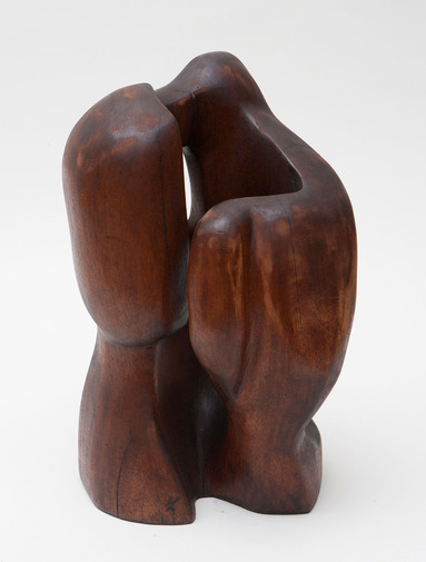 Modernist Wood Sculpture, image 1