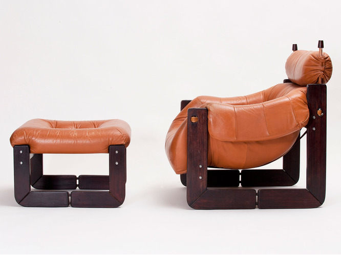 Percival Lafer Lounge Chair and Ottoman, image 1