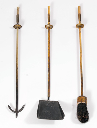 Modernist Brass Fire Tools, image 2
