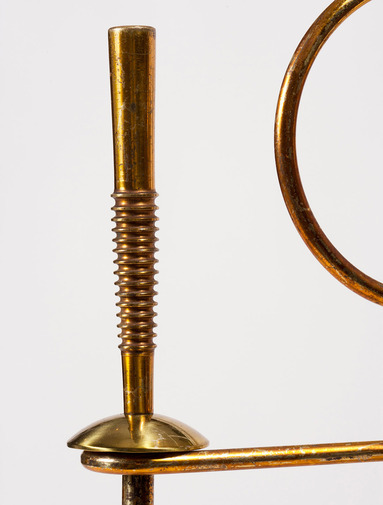 Modernist Brass Fire Tools, image 4