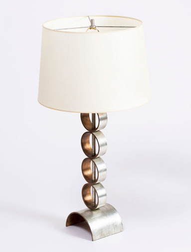 Gold and Silver Leaf Table Lamps, image 1
