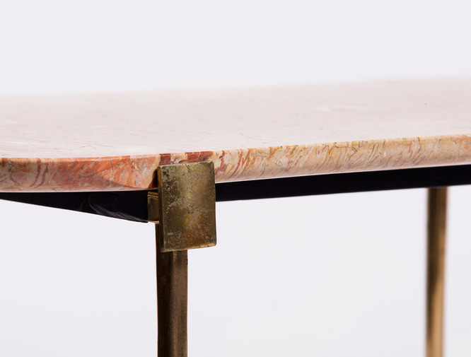 Marble and Brass Table, image 3