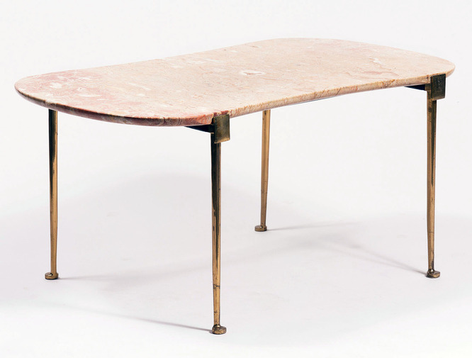 Marble And Brass Table, Image 1