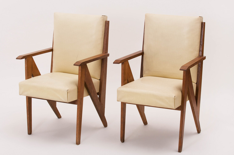 Modernist French Armchairs in the Manner of René Gabriel, image 1