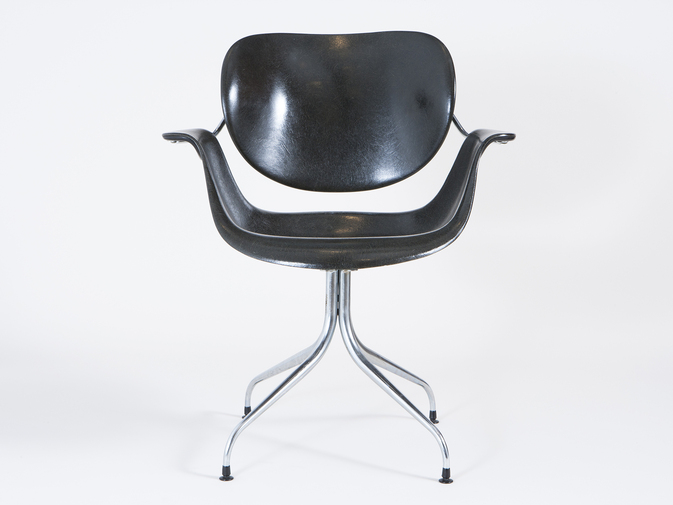 Charles Pollock Swag-leg Chair, image 1