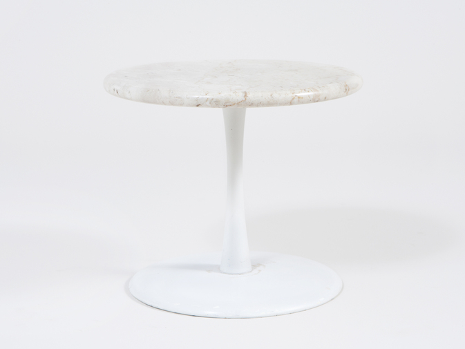 Estelle and Erwine Laverne Marble Side Table, image 1