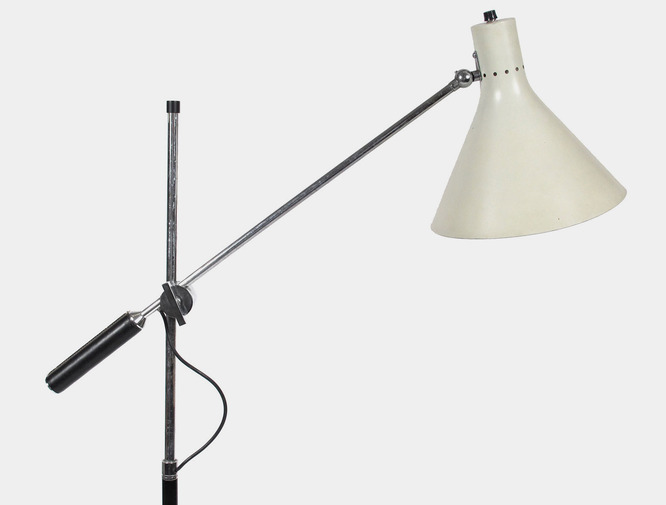 Patrick parrish collection arredoluce one arm floor lamp for Floor lamp 2 arms