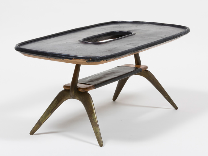 Carl Auböck Leather Table, image 1