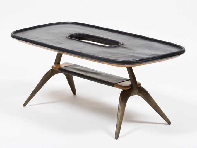 Carl Auböck Leather Table, image 2