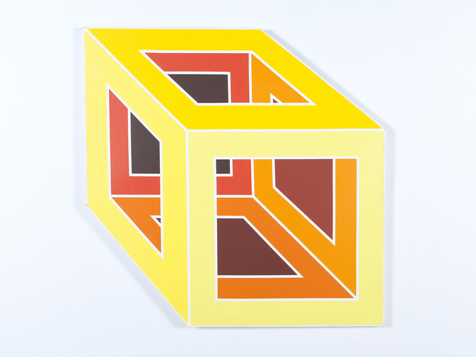 Joseph Rapp 'Number 1' Cube Painting, image 1