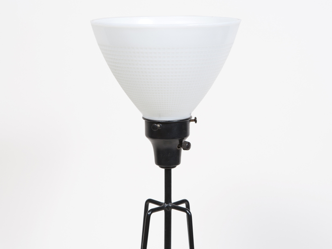 Ben Seibel Ceramic and Iron Lamp, image 3