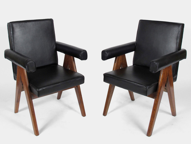 Pierre Jeanneret Armchairs, image 4