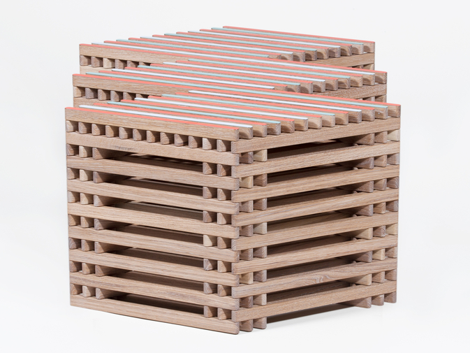 Ian Stell Threestool Bench, image 2