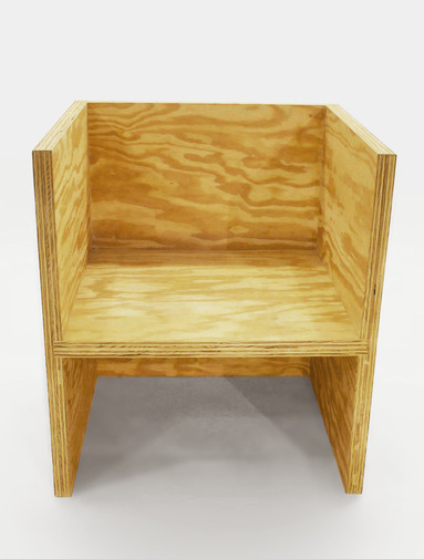 RO/LU Cube Chair Ply, image 1