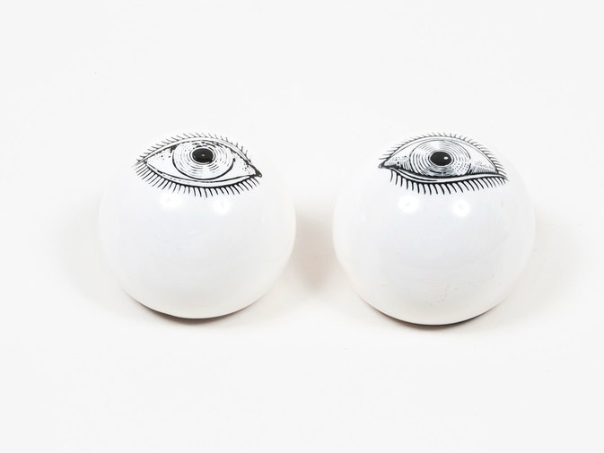 Ceramic Eye Paperweights, image 1