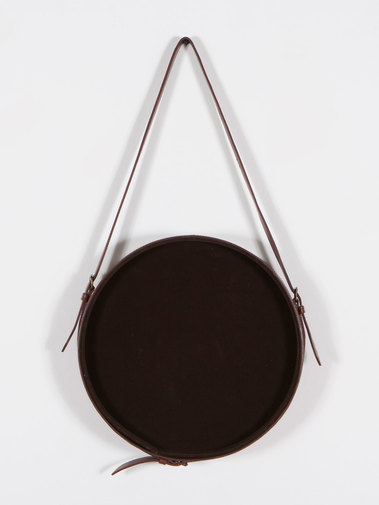 Round Leather Hanging Wall Mirror, image 7