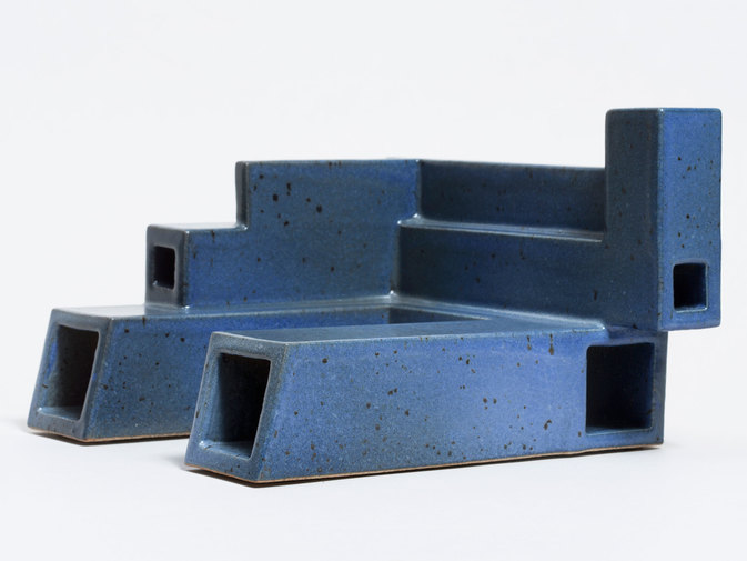Ian McDonald Extruded Blue Object, image 6