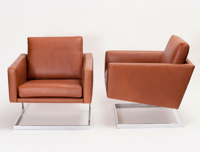 Cantilevered Modernist Armchairs, image 1