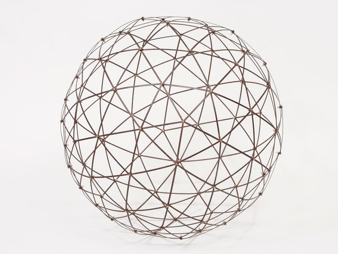 "Chris Beeston ""Sphere (Street Sweeper Bristles)"", image 1"