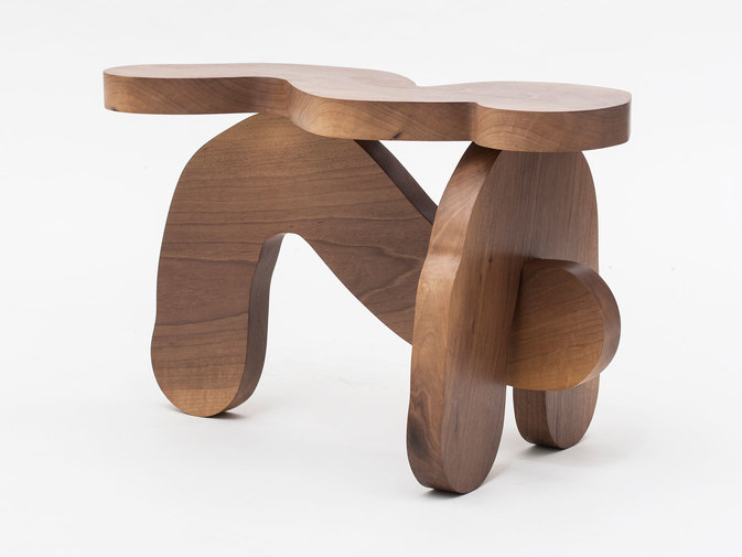 Soft Baroque Wood Worm Bench, image 1