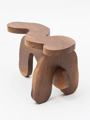Soft Baroque Wood Worm Bench, image 2