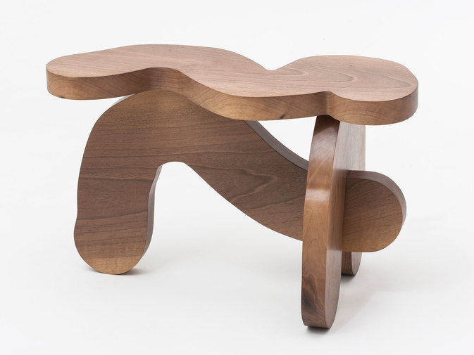 Soft Baroque Wood Worm Bench, image 3