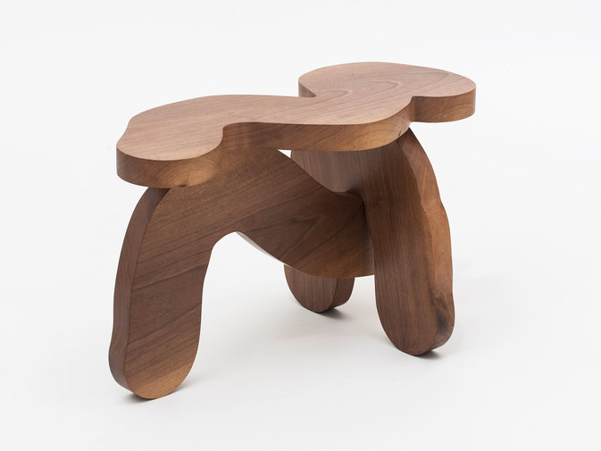 Soft Baroque Wood Worm Bench, image 4