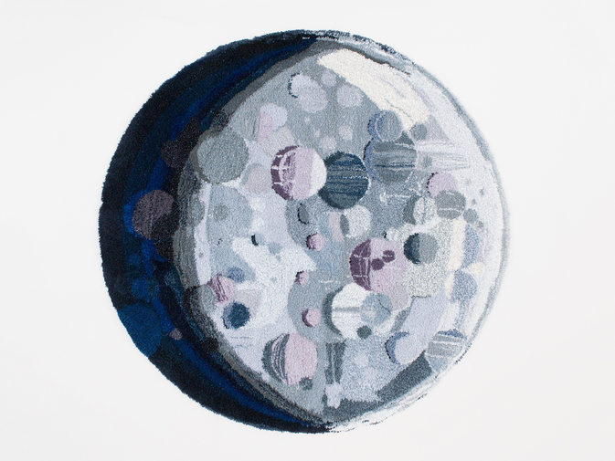 "Camilla Iliefski ""Waxing Gibbous"" Tapestry, image 1"