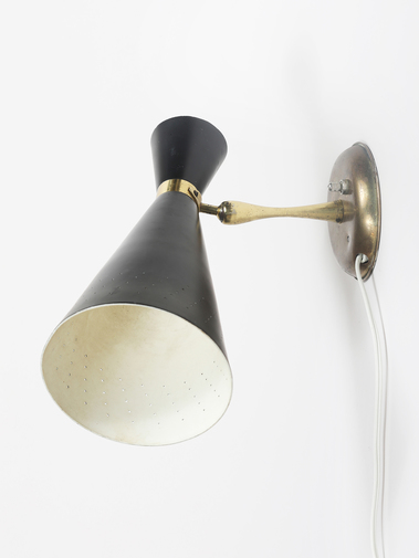 Enamel and Brass Sconce, image 3