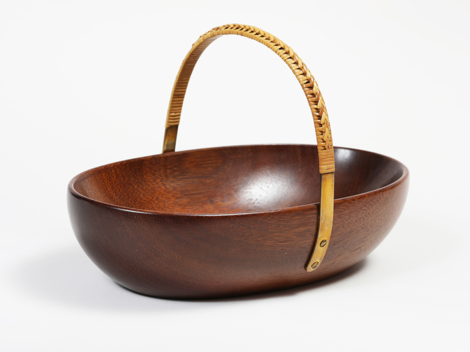 Carl Auböck Wooden Bowl with Handle, image 1