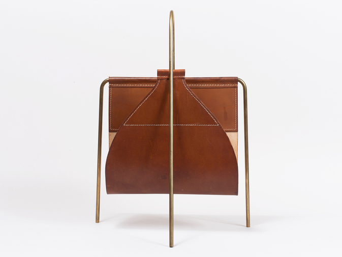 Carl Auböck Brown Magazine Holder, image 2