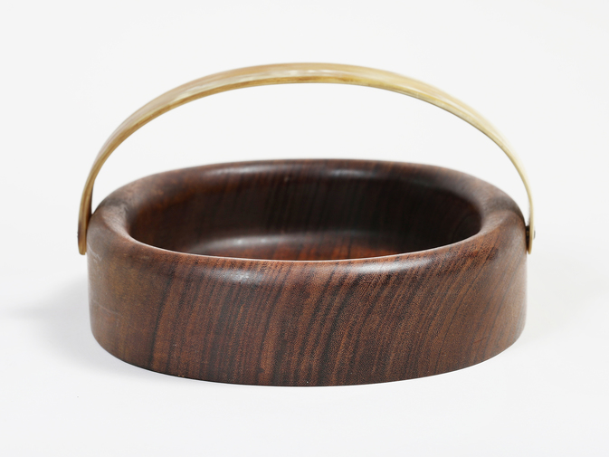 Carl Auböck Wooden Bowl with Horn Handle, image 2