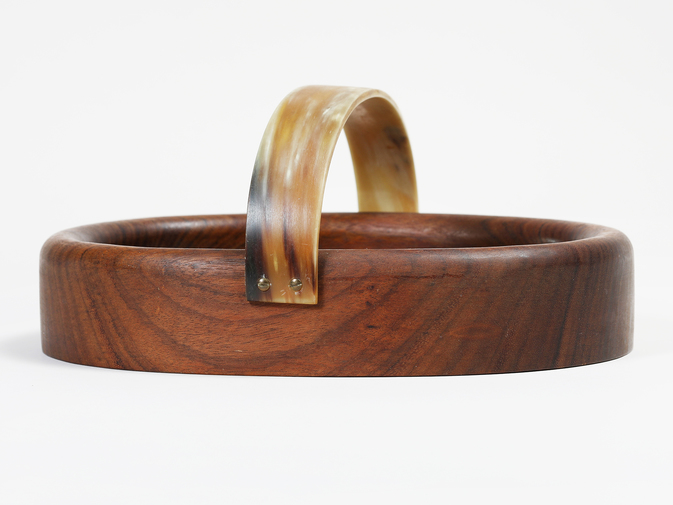 Carl Auböck Wooden Bowl with Horn Handle, image 3