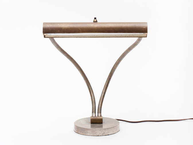 Modernist Double Goose Neck Desk Lamp, image 1