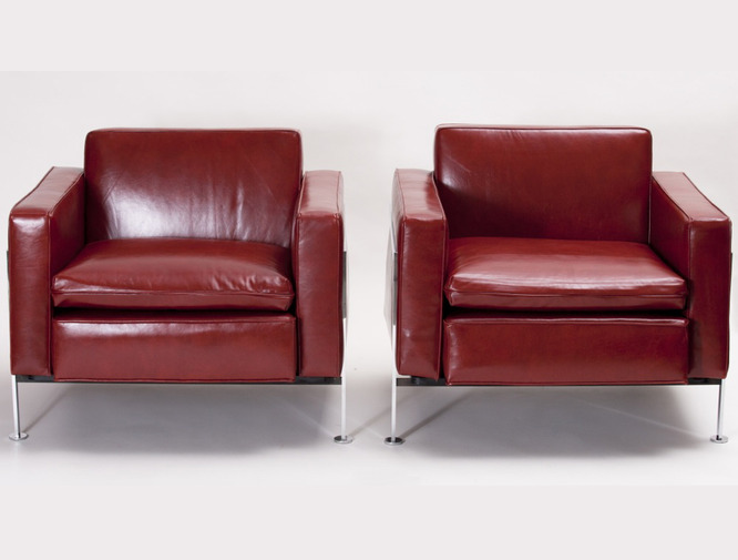 Robert Haussmann Club Chairs, image 5