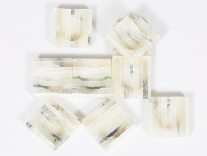 Striped Alabaster Trays, image 4