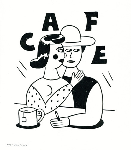"Andy Rementer ""Cafe"", image 1"