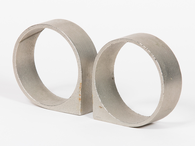 Carl Auböck Circular Stainless Steel Bookends, image 1