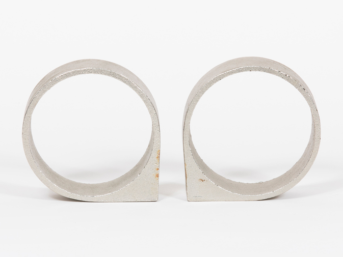 Carl Auböck Circular Stainless Steel Bookends, image 4