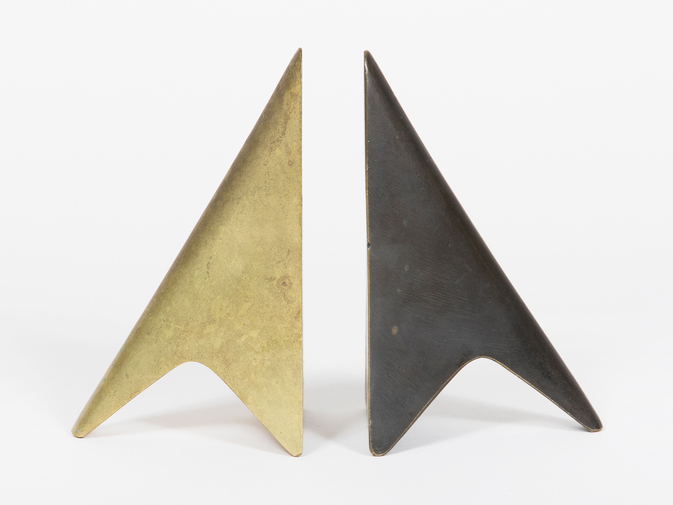 Carl Auböck Two-Tone Brass Bookends, image 1