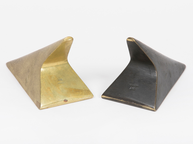 Carl Auböck Two-Tone Brass Bookends, image 4