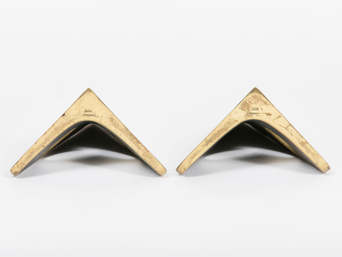 Carl Auböck Triangular Brass Bookends, image 2