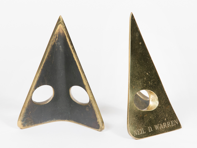 Carl Auböck Triangular Brass Bookends, image 3