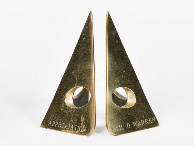 Carl Auböck Triangular Brass Bookends, image 4