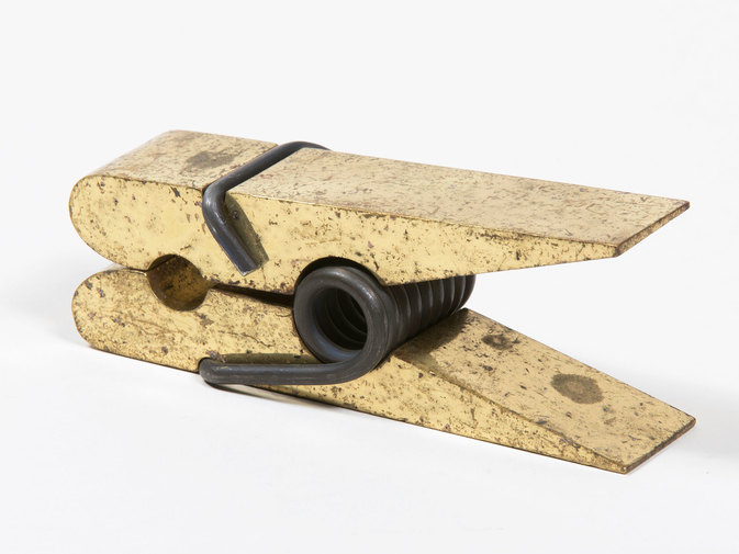 Carl Auböck Brass Clothespin Paper Holder, image 1